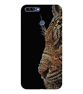 HONOR 8 PRO TIGER LION QUOTE PRINTED BACK CASE COVER by SHAIVYA