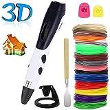 PullPritt Graffetta 3D Pen Smart 3D filamenti PLA ABS Graffiti Miglior regalo per bambini e adulti Penna 3d non tossici