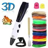 PullPritt Stylo d'impression 3D Stylo Intelligent 3D Filaments PLA ABS Graffiti Meilleur Cadeau pour Enfants et Adulte Stylo 3d