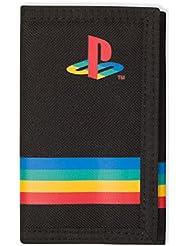 Playstation - Cartera oficial - Negro lona rayas