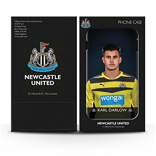 Offiziell Newcastle United FC Hülle / Glanz Snap-On Case für Apple iPhone SE / Lascelles Muster / NUFC Fussballspieler 15/16 Kollektion Pack 25pcs