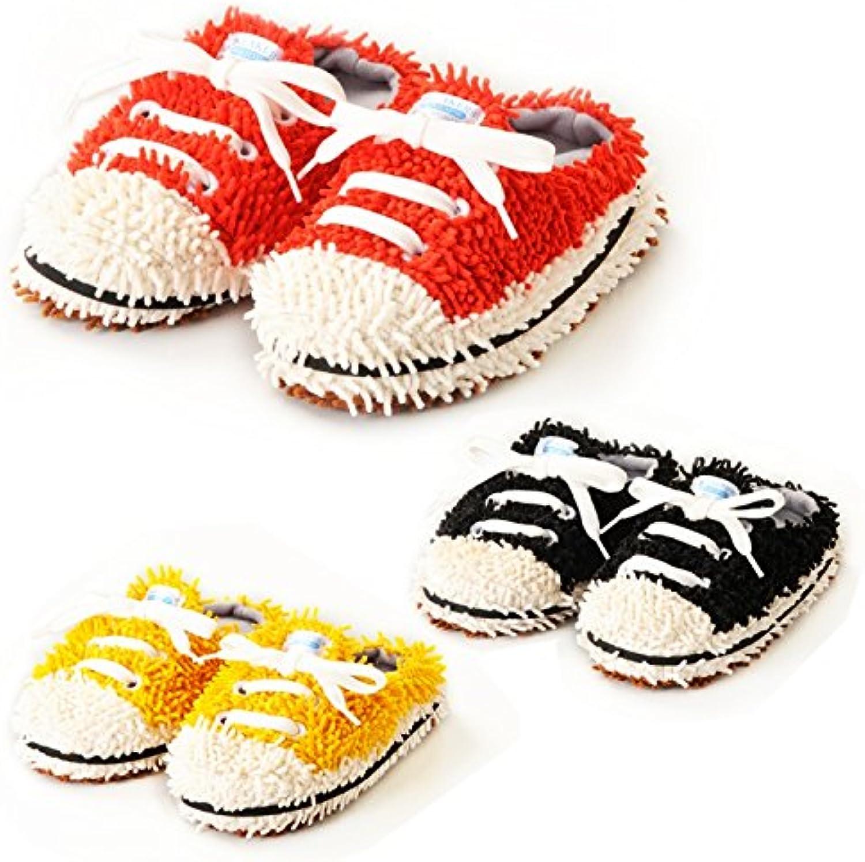 comolife Unisex Zapatillas estilo microfibra fregona zapatillas, color: naranja, tamaño: 18 – 22 cm