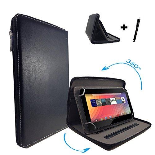 Medion Lifetab S10345 MD99042 / S10316 / S10317 / S10318 / S10319 / S10320 Tablet PC Tasche - 360° 10.1 Zoll Reißverschluss Schwarz