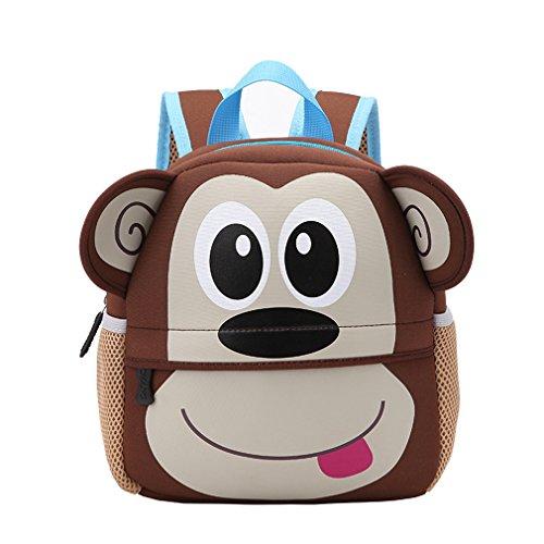 Imagen de yeelan bolsa de escuela impermeable /  para niños mono