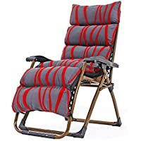 ZHIRONG Folding Siesta Lounge Chair, Elderly Leisure Armchair, Adjustable Angle Sun Loungers, Garden Chairs, Armchairs, Summer Beach Chairs, Removable Cushion (Color : 03)