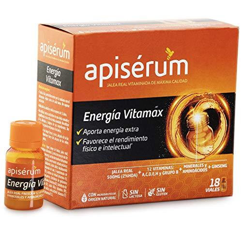 18 viales de jalea real Apisérum Energía Vitamax por 11,75€ ¡¡61% de descuento!!
