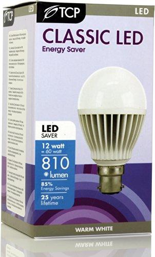 TCP LED-Birne, B22, 12 W, LED 1 x 60 Watt Glühlampe (12 W, Klassische Form, B22-Sockel - Lebensdauer Dvd-filmen Von