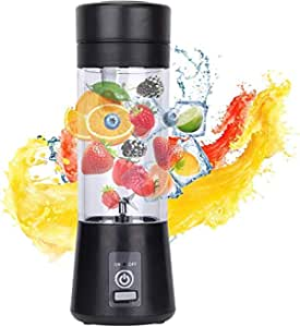 ROYAL STEP Portable Electric USB Juice Maker Juicer Bottle Blender Grinder Mixer, Rechargeable Bottle with 4 Blades (MULTII)