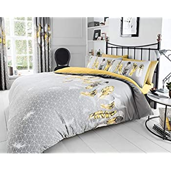 HELSBY SET DUVET COVER ABSTRACT REVERSIBLE QUILT BEDDING BED PILLOW CASES SET