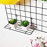 ZONYEO Dritto scaffale per Gridwall griglia Pannello montabile a Parete Wire Organizer Flower Pot Display Decor 9 20,3 cm x 3 22,9 cm