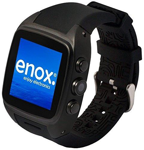 Enox WSP88 Version 2 SCHWARZ vollwertige 3G Android 4.4 Smartwatch Smartphone Handyuhr 20GB Speicher SIM Karten Einsatz WLAN 1,54