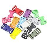 Cushy 10pcs 1 & quot; Farbe Kunststoff Gebogene Sicherheitsschnallen-Haken für Paracord Armband Rucksäcke Schuhe Taschen Katze Hundehalsband DIY Dekor: Rosa