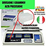 Givimusic Bilancia Elettronica Digitale 40 kg 1GRAMMO Batteria Integrata Professionale