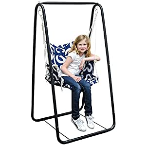 amanka swing set with chair and stand frame metal frame. Black Bedroom Furniture Sets. Home Design Ideas