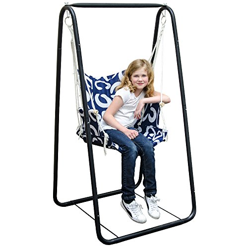 AMANKA Swing set with chair and stand frame Metal Frame ...