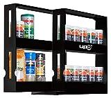 UPP portaspezie Estraibile I Pratico Armadio Sistema di Ordine garantisce Ordine in Bagno e Cucina I mensola Estraibile Come Inserto per Armadio o Direttamente sul Piano di Lavoro Nero