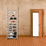 10 Layer 9 Grid Shoe Rack Storage Shelf Organizer Cabinet