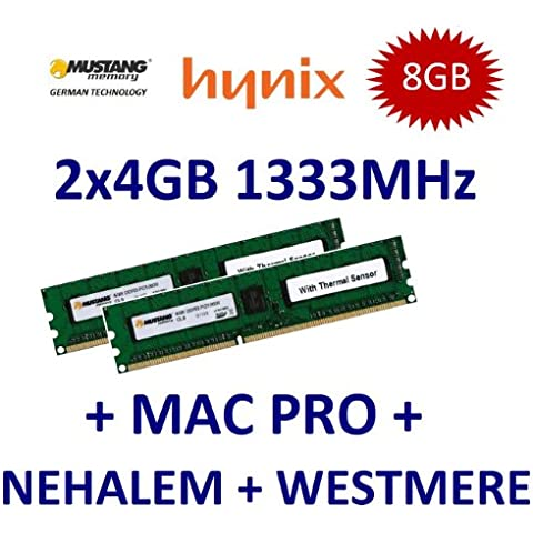 8 GB Dual Channel Kit Mustang/Hynix 2 x 4 GB DDR3 1333 mhz PC3-10600E 240 (Ecc Unbuffered Dimm A 240 Pin)