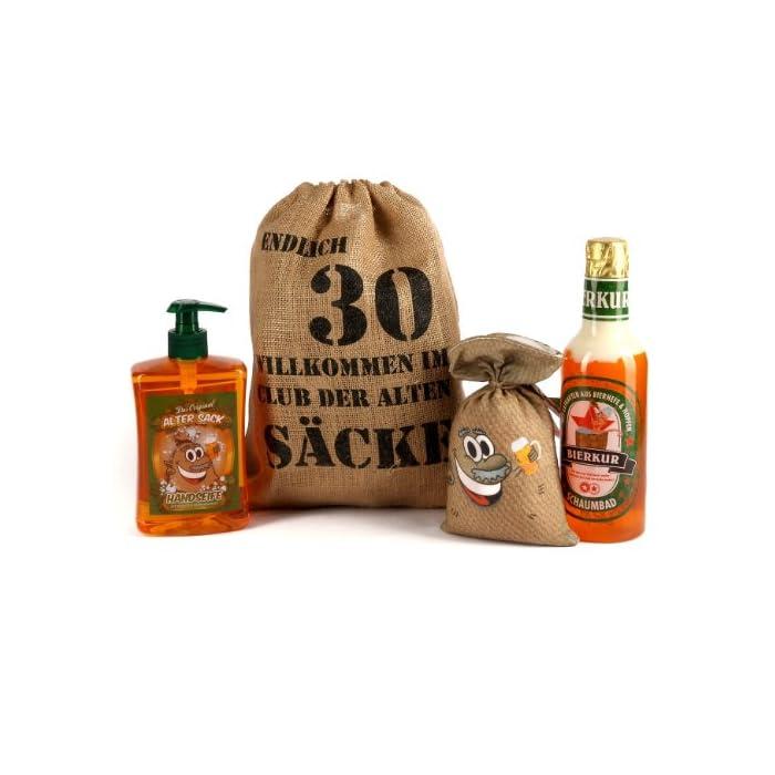 Lustapotheke® Geburtstagsgeschenk Set Bier Spa zum 30. Geburtstag (4-teilig)