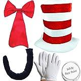Adultes chat dans le chapeau Kit Journée mondiale du livre Crazy Cat déguisement costume