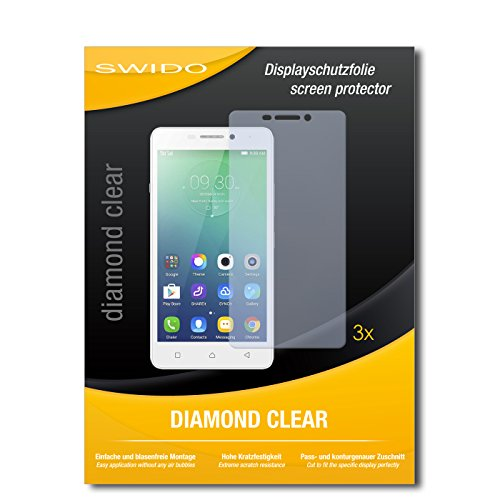 SWIDO 3 x Schutzfolie Lenovo Vibe P1m Bildschirmschutz Folie DiamondClear unsichtbar