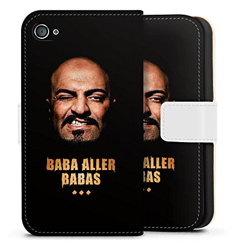 Apple iPhone X Silikon Hülle Case Schutzhülle Xatar Fanartikel Merchandise Baba aller Babas Sideflip Tasche weiß