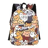 Historieta de la mochila de las mujeres del animado para la mochila del viaje de las muchachas de los muchachos Impresión linda del gato bolso de hombro para la adolescencia