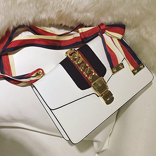 LiZhen eleganti confezioni di catena nuova femmina di trasporto piccolo pacchetto di singoli sacchetti spalla piccole S stesso damasco piccoli pacchetti di partito, piccolo nero) Un