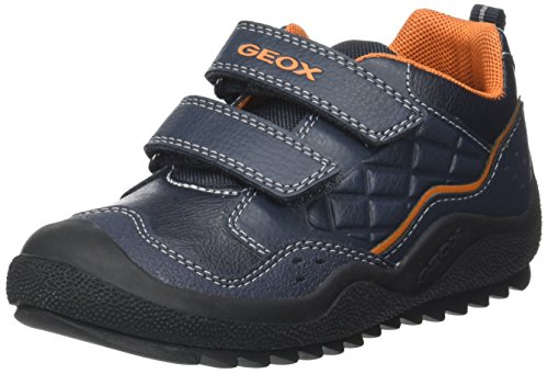Geox Jungen J Athiss Boy B Sneaker, Blau (Navy/DK Orange), 34 EU (Kinder-schuhe Orange)