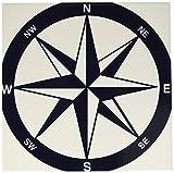 3drose CT _ 213841_ 4blau und weiß nautischen Kompass Keramik Fliesen, 30,5cm