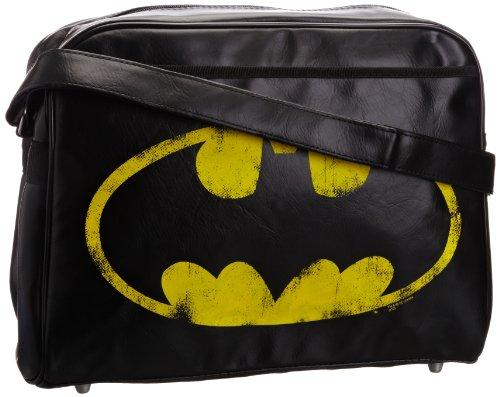 Batman Vintage Logo Tasche/ Freizeit Bag , quer, schwarz
