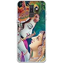 YuBingo Soft Silicone Designer Printed Mobile Back Case Cover for Samsung Galaxy J8 (2018) | Radha Krishna | UV Printed | Waterproof | Shockproof | Slim | Light