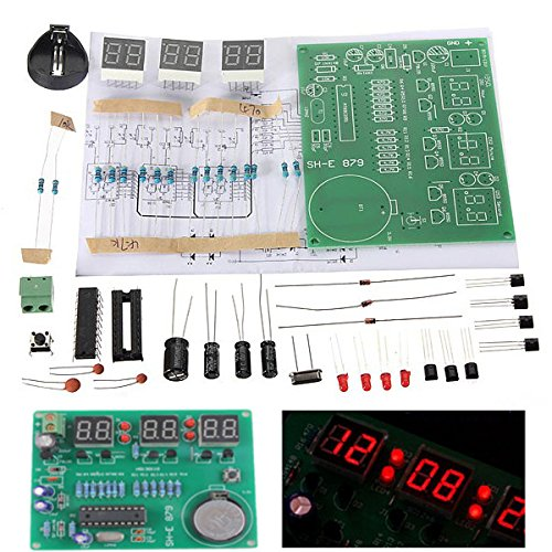 10 Stücke Diy 6 Digital Led Elektronische Ladicha Uhr Kit 9 V-12 V At89C2051