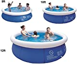 8'10'12'ft Prompt Set Round Inflatable Family Swimming Paddling Pool Garden Outdoor (12ft pool)