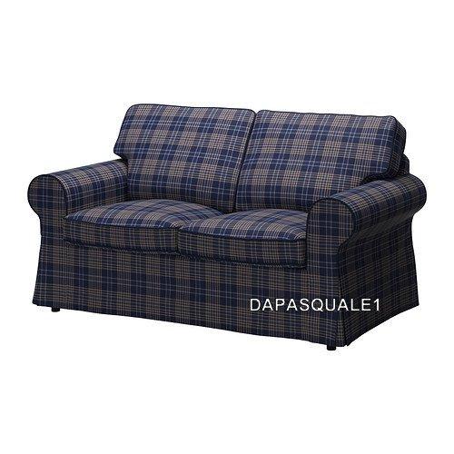 Ikea EKTORP - Schonbezug für Loveseat 2-Sitzer-Sofa, Rutna, Mehrfarbig