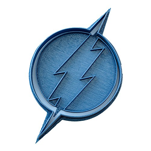 Cuticuter Superhelden Flash Logo Ausstechform, Blau, 8x 7x 1.5cm