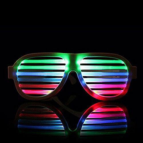 Express Panda® LED-Gläser mit Musik und Ton-Aktivierung | Multi Color LED Party Brille, die aufleuchten, und Flash Beat der Musik, Spaß für Club, Bar, Halloween, Party-Partei und mehr