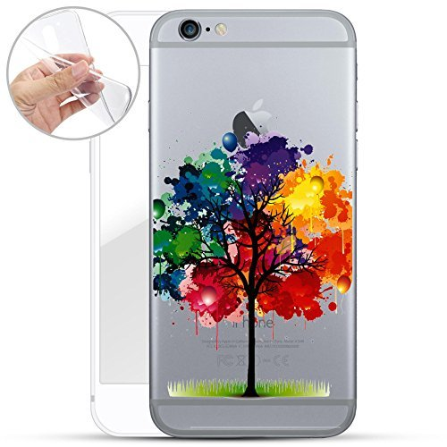 Motivo Serie 1 Custodia Rigida Iphone - GATTO CORTO, Iphone 6/6S Multicolore Albero