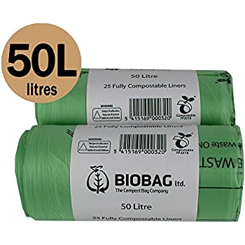 all green 50 liter kompostierbarer biobag schwingm llsack mit kompostieranleitung 25 m lls cke. Black Bedroom Furniture Sets. Home Design Ideas