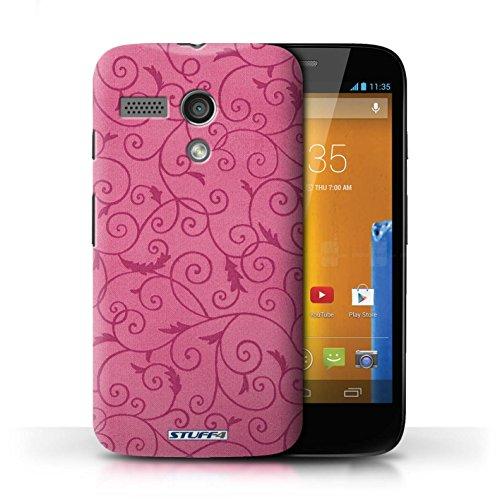Kobalt® Imprimé Etui / Coque pour Motorola MOTO G (2013) / Orange conception / Série Motif de la vigne Rose