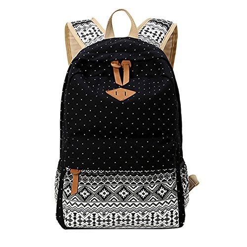 minetom-mujer-chicas-moda-mochila-lona-colegio-bolso-mochilas-ordenador-porttil-mochila-negro