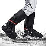 omitium Regenüberschuhe Wasserdicht Schuhüberzieher Mehrweg Schnee Staub Schutz und Rutschfeste