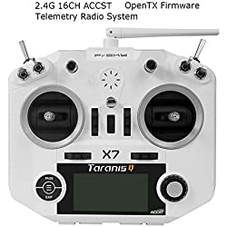 LITEBEE Frsky Taranis Q X7 Transmisor 2.4GHz 16CH ACCST Transmitter Compatibile con Frsky Receptor Adecuado Para FPV Racing RC Drone Quadcopter ( White )