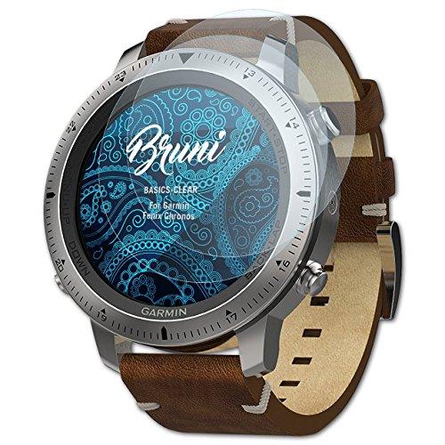 Bruni Schutzfolie für Garmin Fenix Chronos Folie, glasklare Bildschirmschutzfolie (2X)