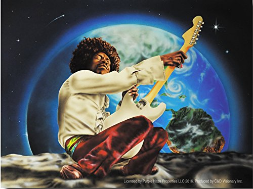"Preisvergleich Produktbild HENDRIX JIMI SPACE 4, Officially Licensed Original Artwork, 3.75"" x 5""- Sticker DECAL Pegatina"