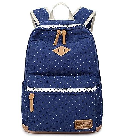 Kexin®Fashion Mädchen Schulrucksack Damen Canvas Rucksack Teenager Baumwollstoff Schultasche Outdoor