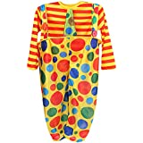 Phenovo Funny Clown Boys Costume Spotted Suspender Pant Striped Tops Set Fancy Dress Kids Outfit