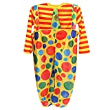 Sharplace Clown-Kostüm Kinder Jungen und Mädchen Clownskostüm 2tlg. Set Punkt Muster - XL