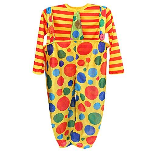Sharplace Clown-Kostüm Kinder Jungen und Mädchen Clownskostüm 2tlg. Set Punkt Muster - M