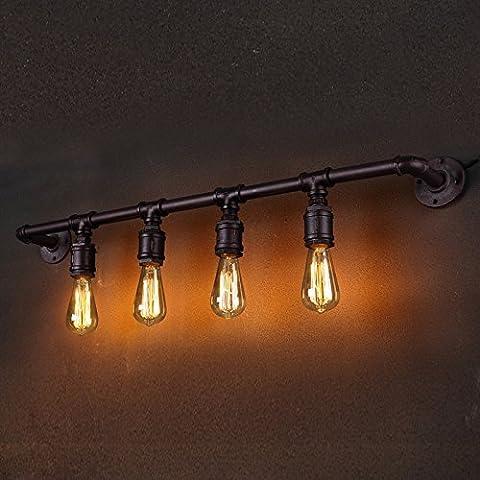 kinine Loft Retro Metal industrial de pared de luz lámpara de pared Adorno (sin bombilla) 032 lámparas de